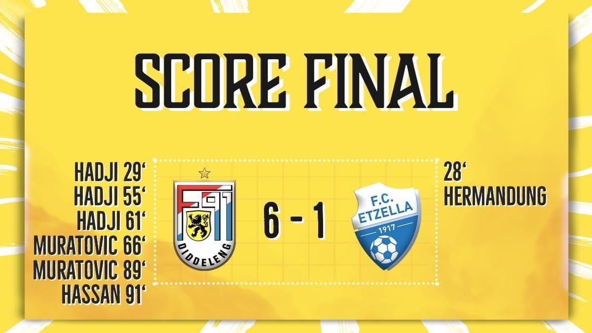 F91 Diddeleng - FC Etzella Ettebrück 6-1 (1-1)