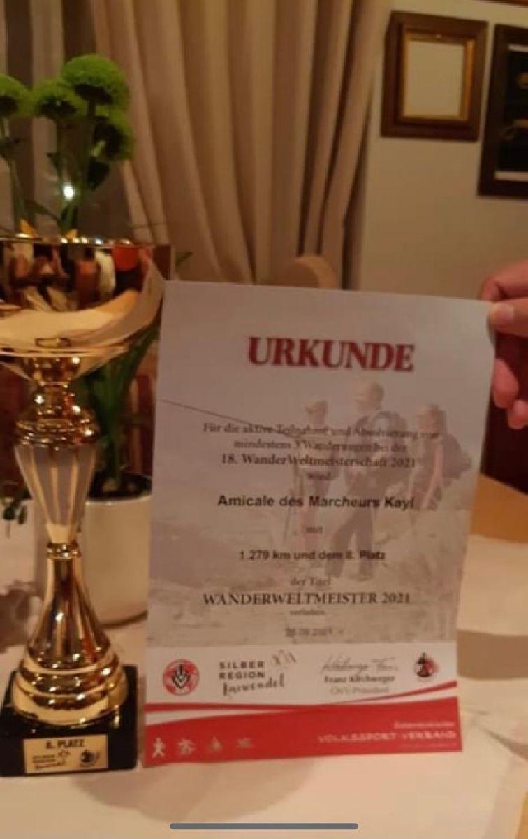 Mir gratuléieren der AMK fir hir 8ten Platz op der WM