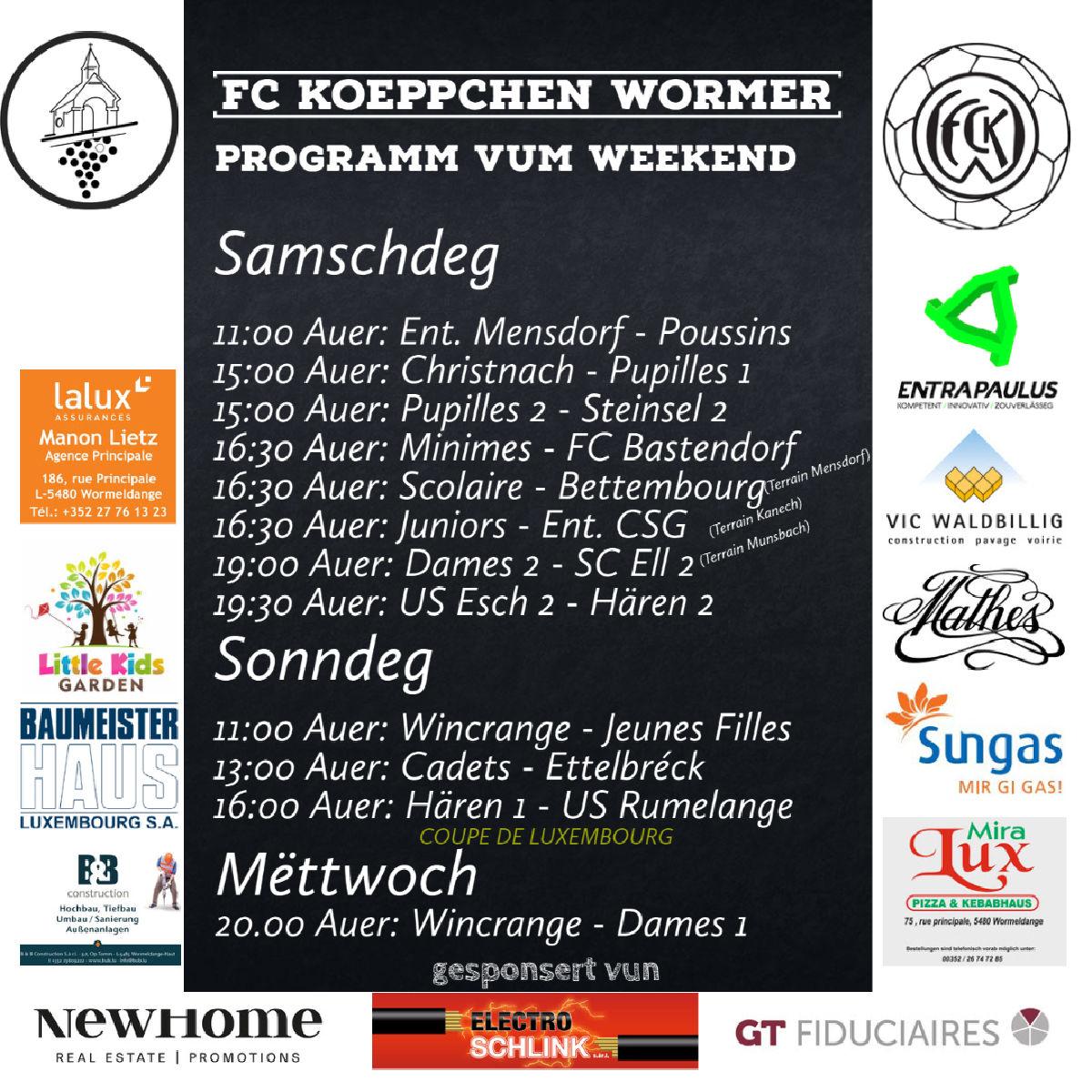 Programm vum Weekend