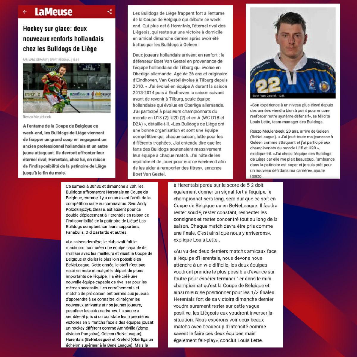 Revue de Presse - La Meuse web 08 octobre 2021