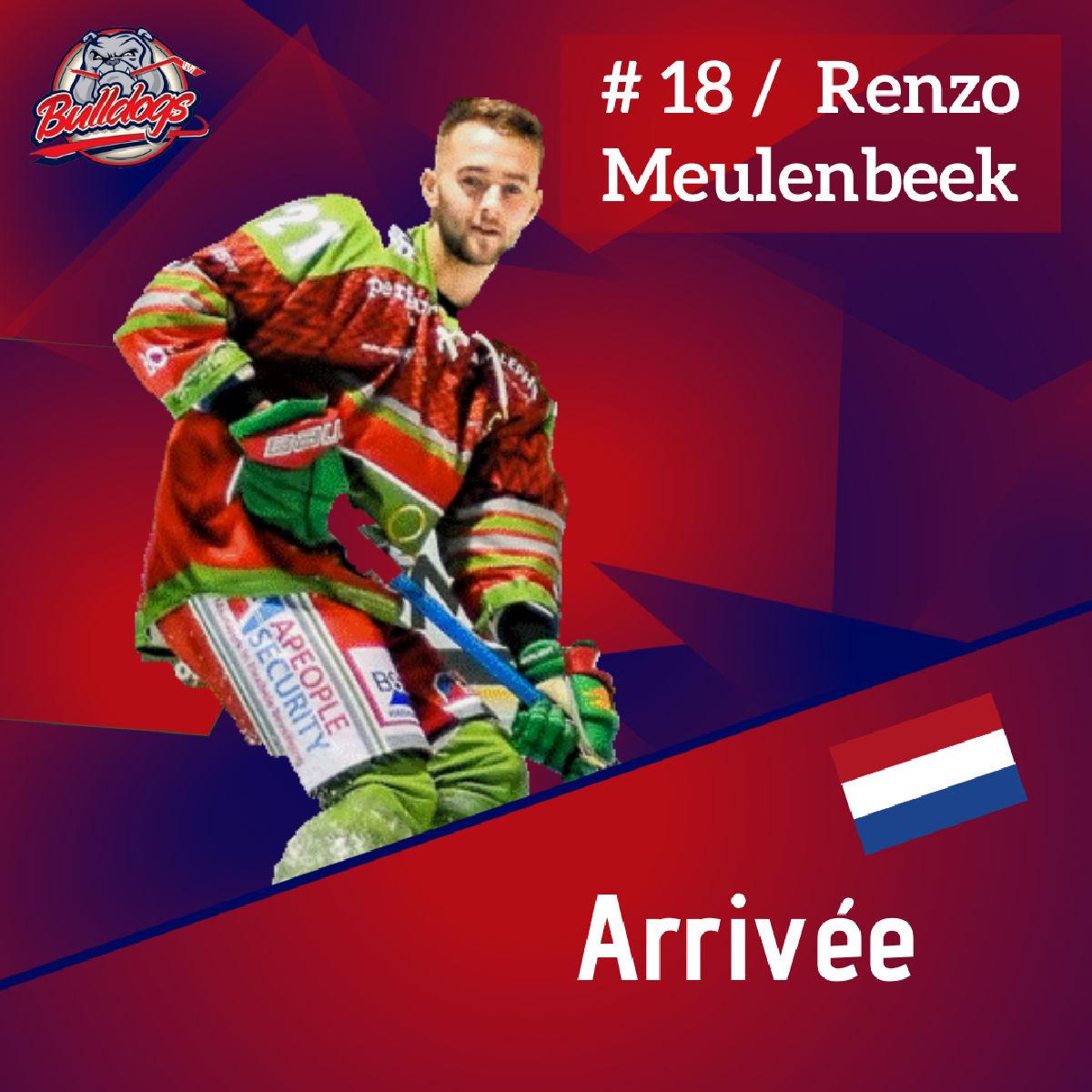 Présentation de Renzo Meulenbeek nouvel attaquant des Bulldogs de Liège