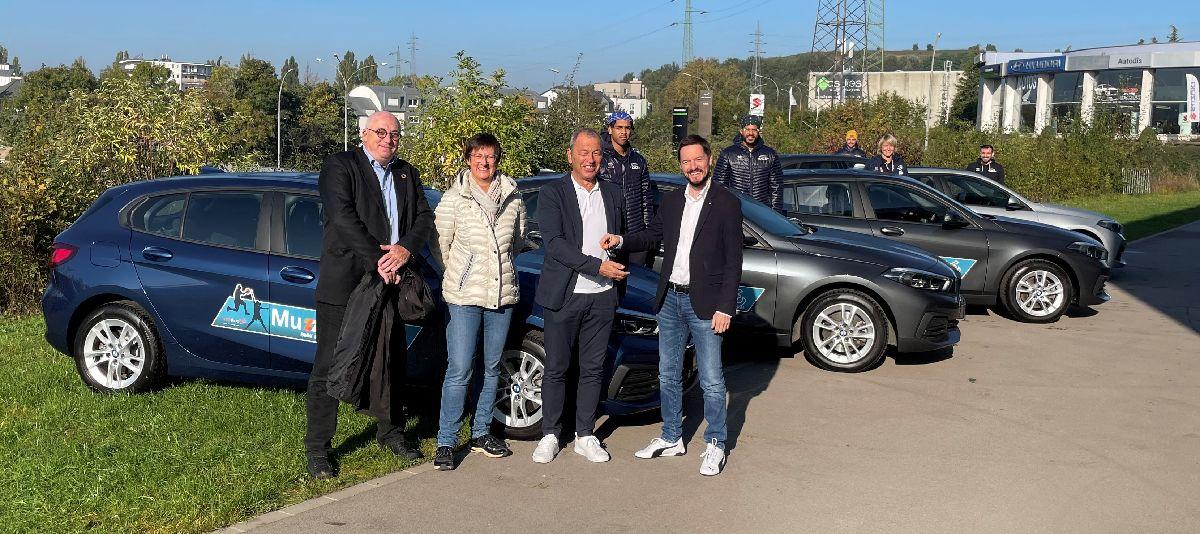 Mise à disposition des voitures pour nos joueurs par notre sponsor BMW MUZZOLINI-ESCH/ALZETTE