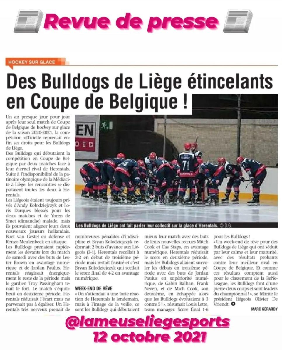 Revue de presse - La Meuse 12 octobre 2021