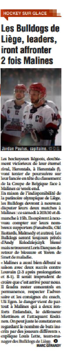 Revue de Presse - La Meuse 16 octobre 2021