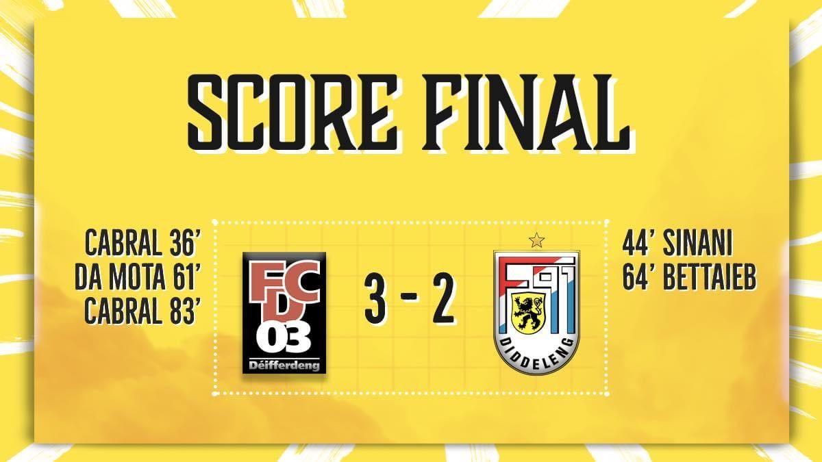 FC Déifferdeng 03 - F91 Diddeleng 3-2 (1-1)