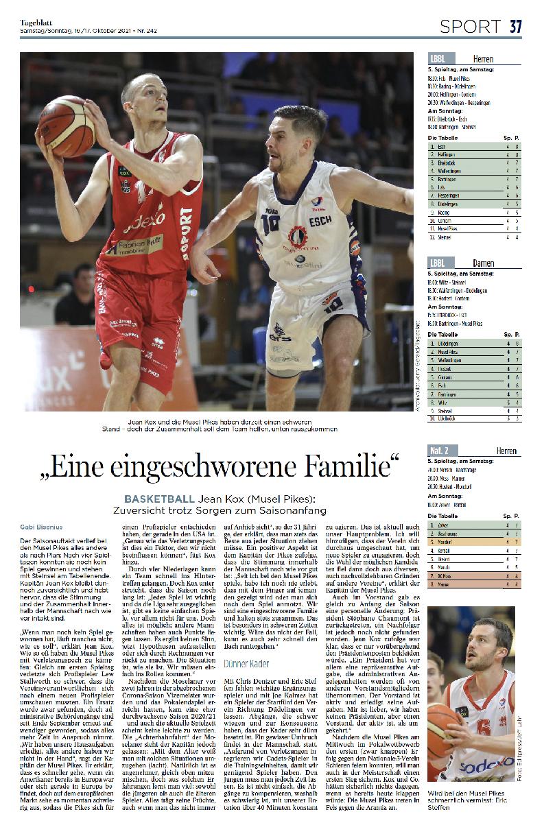 Tageblatt 16.10.2021 (Jean Kox)