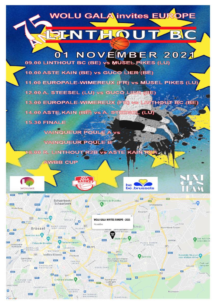 Tournoi international à Bruxelles avec participation des Pikes-espoirs