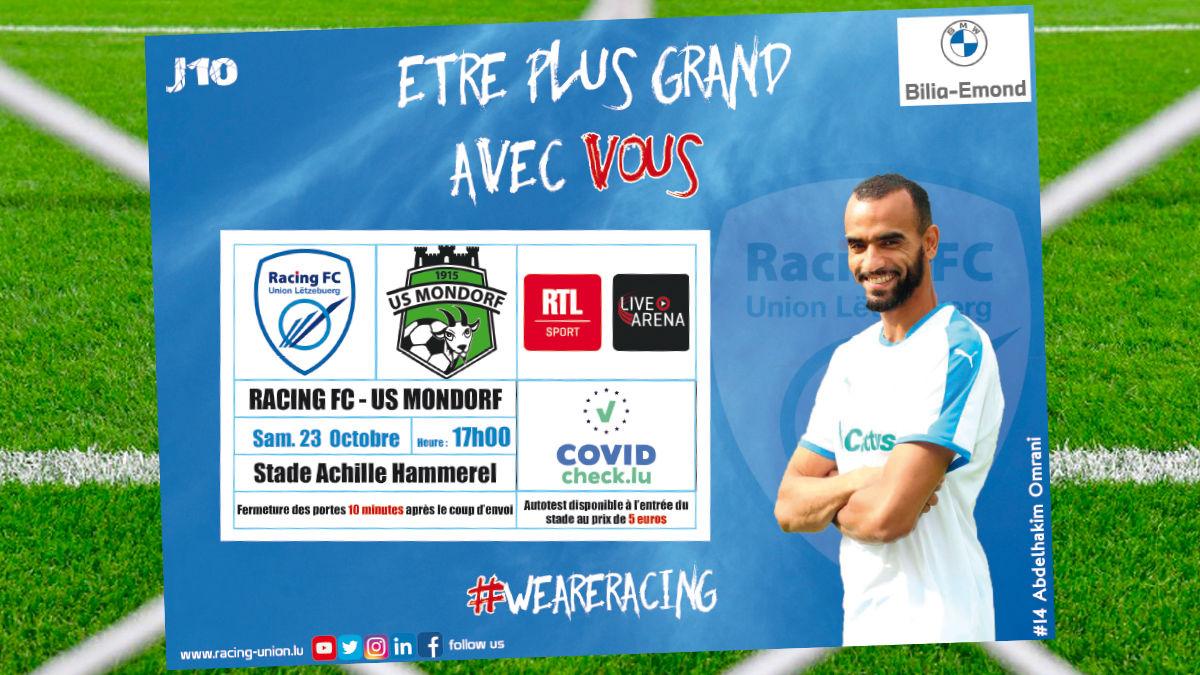 Samedi, le Racing FC Union Lëtzebuerg reçoit Mondorf à 17h